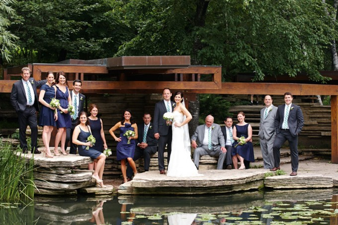 24. River East Art Center Wedding. Dennis Lee Photography. Sweetchic Events. Bridal Party. Alfred Caldwell Lilly Pond.