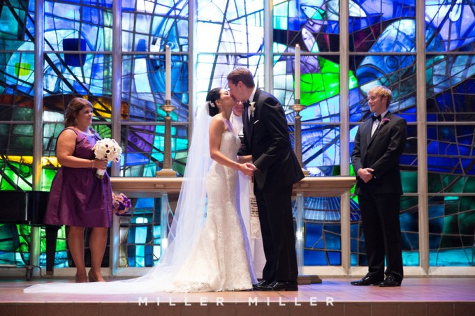 25. Germania Place Wedding. Miller & Miller Photography. Sweetchic Events. Alice Millar Chapel. The Kiss.
