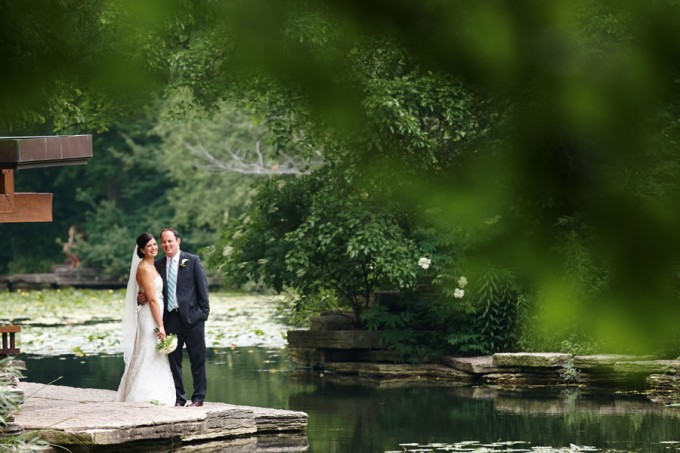 25. River East Art Center Wedding. Dennis Lee Photography. Sweetchic Events. Bride and Groom. Alfred Caldwell Lilly Pond.