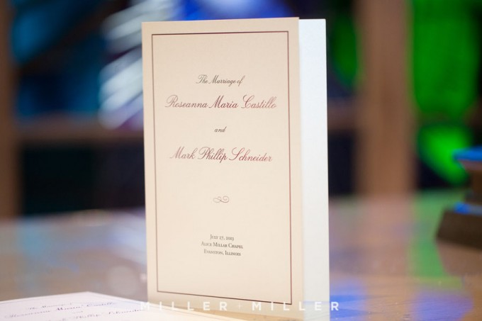 26. Germania Place Wedding. Miller & Miller Photography. Sweetchic Events. Classic Ceremony Programs.