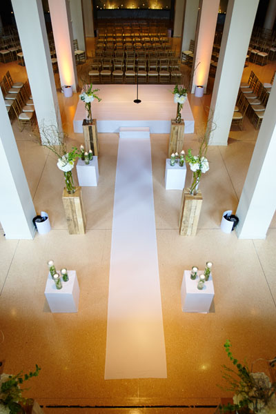 29. River East Art Center Wedding. Dennis Lee Photography. Sweetchic Events. Revel Decor. Ceremony.