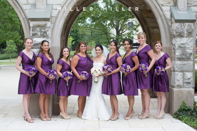 30. Germania Place Wedding. Miller & Miller Photography. Sweetchic Events. Bridesmaids. Purple Dresses.