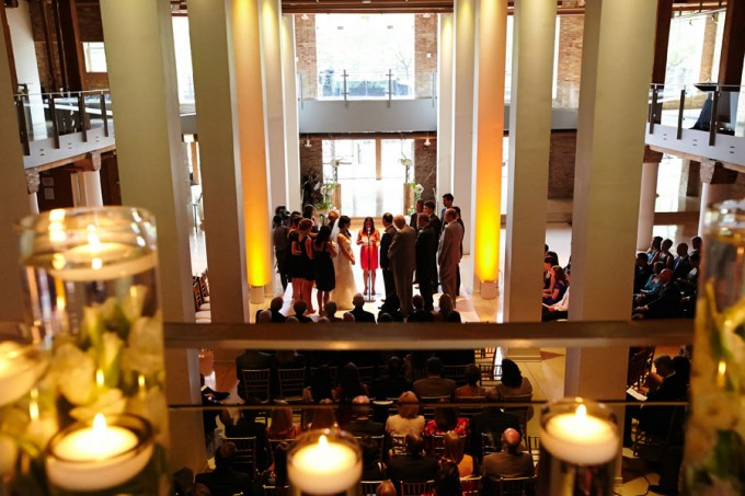 35. River East Art Center Wedding. Dennis Lee Photography. Sweetchic Events. Ceremony