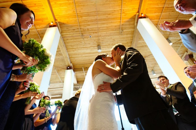 39. River East Art Center Wedding. Dennis Lee Photography. Sweetchic Events. The Kiss.