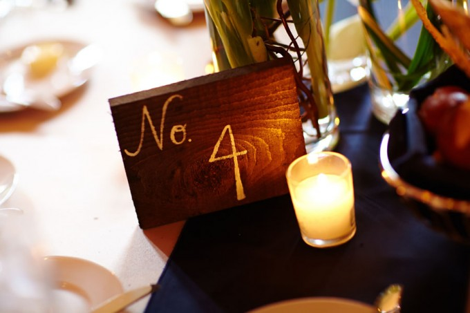 42. River East Art Center Wedding. Dennis Lee Photography. Sweetchic Events. Reclaimed Wood Table Numbers