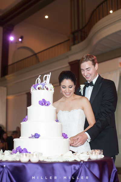 47. Germania Place Wedding. Miller & Miller Photography. Sweetchic Events. Cake Cutting