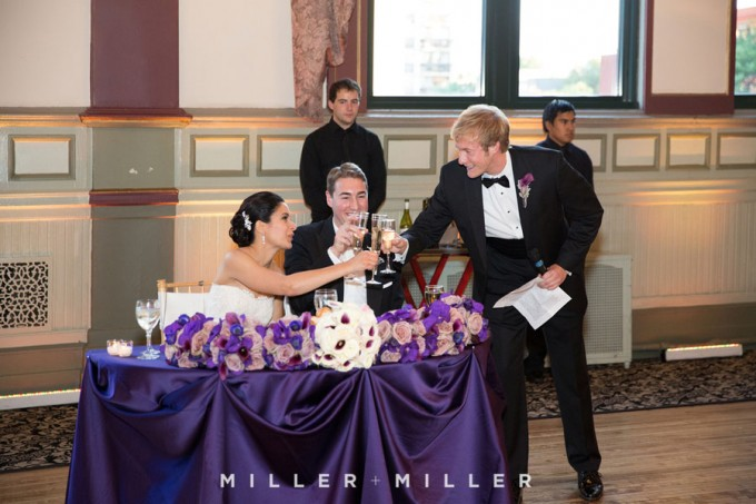 48. Germania Place Wedding. Miller & Miller Photography. Sweetchic Events. Toast.