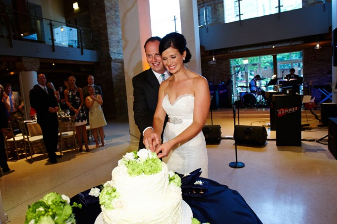 54. River East Art Center Wedding. Dennis Lee Photography. Sweetchic Events.Cake Cutting.