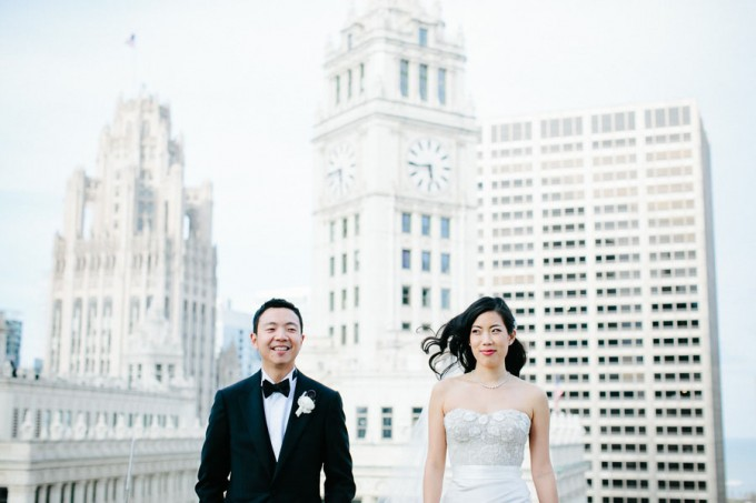 40. Trump Tower Wedding. Pen Carlson Photography. Sweetchic Events. Bride and Groom on Trump Tower Terrace.
