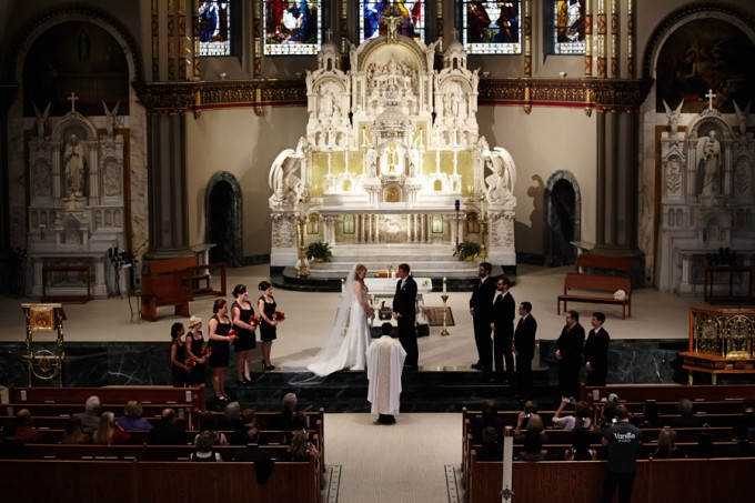 15. Germania Place Wedding. Dennis Lee Photography. Sweetchic Events. St. Vincent DePaul Ceremony