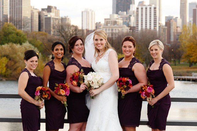 17. Germania Place Wedding. Dennis Lee Photography. Sweetchic Events. Purple Bridesmaids Dressed. Lincoln Park Zoo.