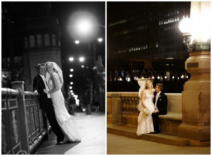 25. Germania Place Wedding. Dennis Lee Photography. Sweetchic Events. Bride and Groom near Chicago River Bridge.
