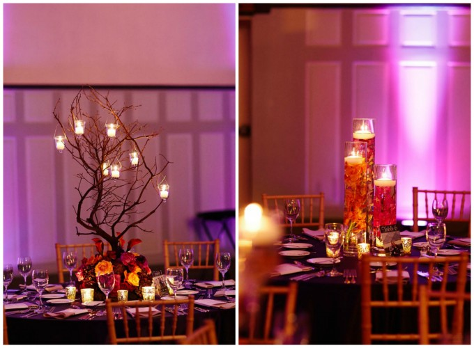 26. Wedding. Dennis Lee Photography. Sweetchic Events. Vale of Enna. Manzanita Branch wtih Hanging Candles Centerpiece. Submerged Centerpieces.