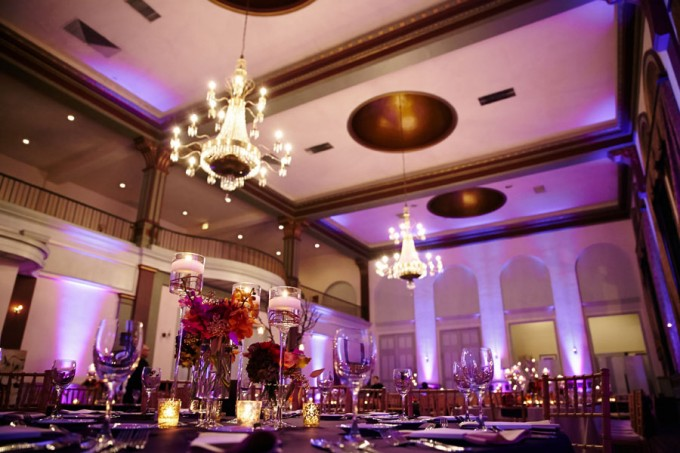 34. Germania Place Wedding. Dennis Lee Photography. Sweetchic Events.Purple Uplighting.