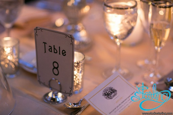 36. U of C Hutchinson Commons Wedding. Studio Starling. Sweetchic Events. Black and White Table Numbers