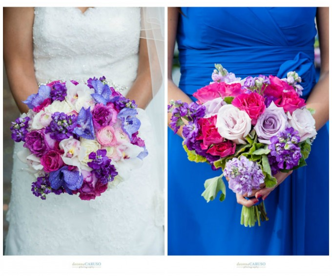 14.  Deonna Caruso Photography. Sweetchic Events. Flor Del Monte. Fuchsia Rose, Lisianthus, Orchid and Stock Brides Bouquet. Petite Fuchsia Rose Bouquet.