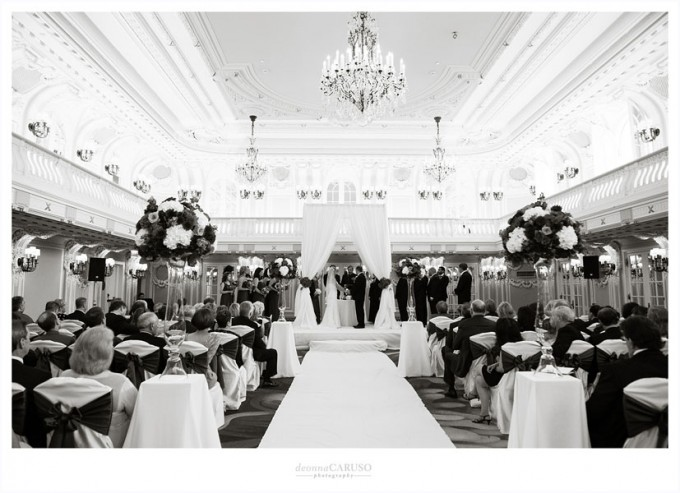 26. Blackstone Hotel Wedding. Deonna Caruso Photography. Sweetchic Events. Ballroom Ceremony.