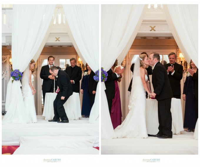 27. Blackstone Hotel Wedding. Deonna Caruso Photography. Sweetchic Events. Ivory Fabric Chuppah. Flor Del Monte.