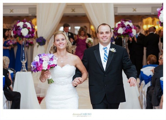 28. Blackstone Hotel Wedding. Deonna Caruso Photography. Sweetchic Events. Recessional.