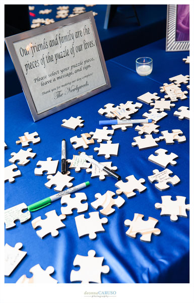 30. Blackstone Hotel Wedding. Deonna Caruso Photography. Sweetchic Events. Puzzle Piece Guest Book.