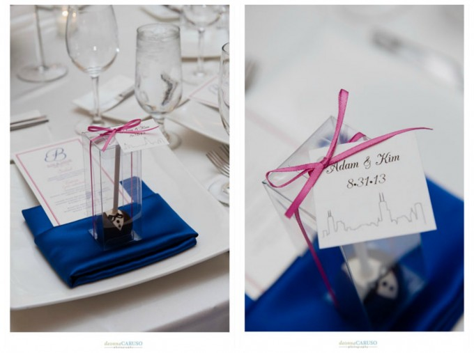 38. Blackstone Hotel Wedding. Deonna Caruso Photography. Sweetchic Events. Flour Cake and Pastry. Tuxedo Cake Pop Wedding Favors.