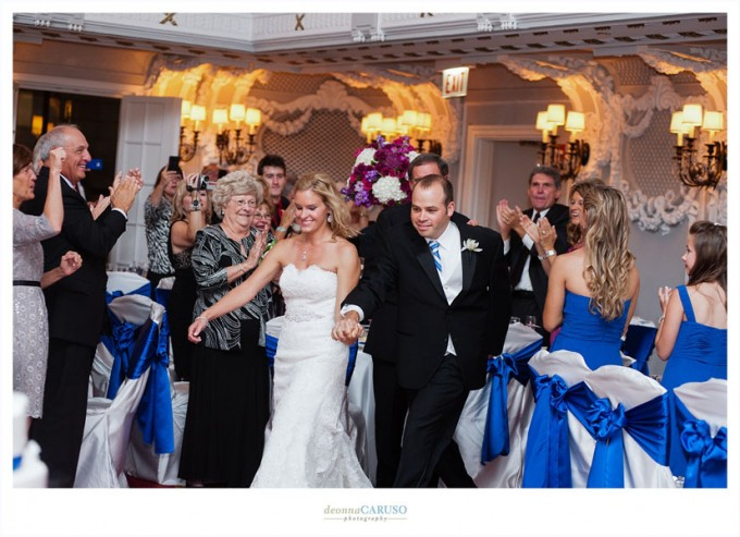 40. Blackstone Hotel Wedding. Deonna Caruso Photography. Sweetchic Events. Bride and Groom Entrance.