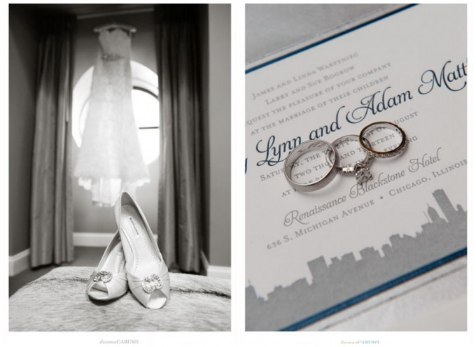 Blackstone Hotel Wedding. Deonna Caruso Photography. Sweetchic Events. Wedding Rings on Chicago Skyline Intivation.jpg.