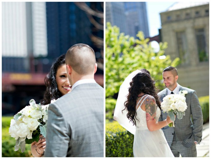 10. Fulton's on the river wedding. Summer Jean Photography. Sweetchic Events. Larkspur. First Look. Westin River North