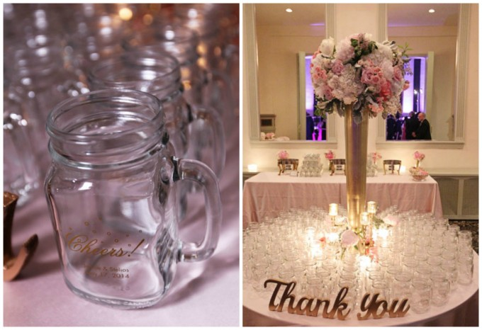 67. Germania Place Wedding. Kenny Kim Photography. Sweetchic Events. Wedding Favors. Personalized Mason Jar Mugs.
