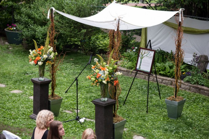 27. Keith House Wedding. Historic Home Wedding. The Way We Click. Sweetchic Events. Pollen. Woodsy Chuppah with foliage and branches.
