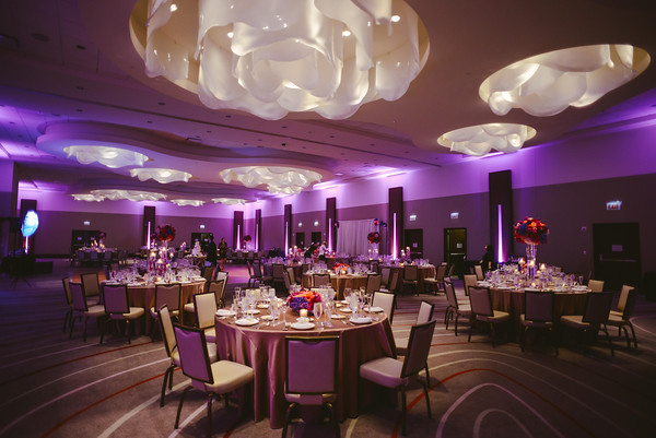 29.  Intercontinental Ohare Wedding. Fragola Productions. Sweetchic Events. Purple Uplighting. Dramatic Uplighting. Classic Wedding