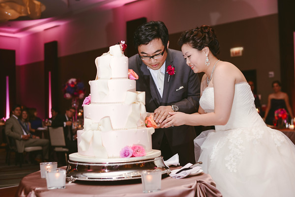 33.  Intercontinental Ohare Wedding. Fragola Productions. Sweetchic Events. Cake Cutting.