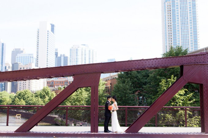 20. Room 1520 Wedding. Sweetchic Events. Studio Finch. Kinzie Street Bridge. Urban. Industrial Chicago