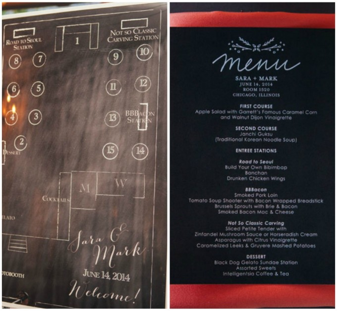 34. Room 1520 Wedding. Sweetchic Events. Studio Finch. Chalkboard Seating Chart. Chalkboard Menu. Modern Vintage