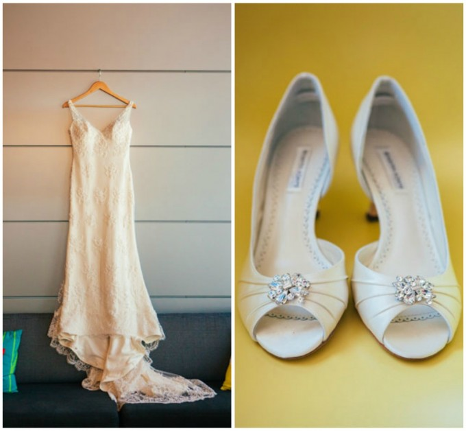 4. Room 1520 Wedding. Sweetchic Events. Studio Finch. Wedding Dress. Lace Wedding Dress. Classic Bridal Shoes.