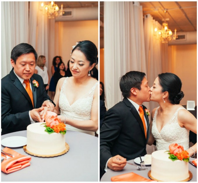 45. Room 1520 Wedding. Sweetchic Events. Studio Finch. Cake Cutting