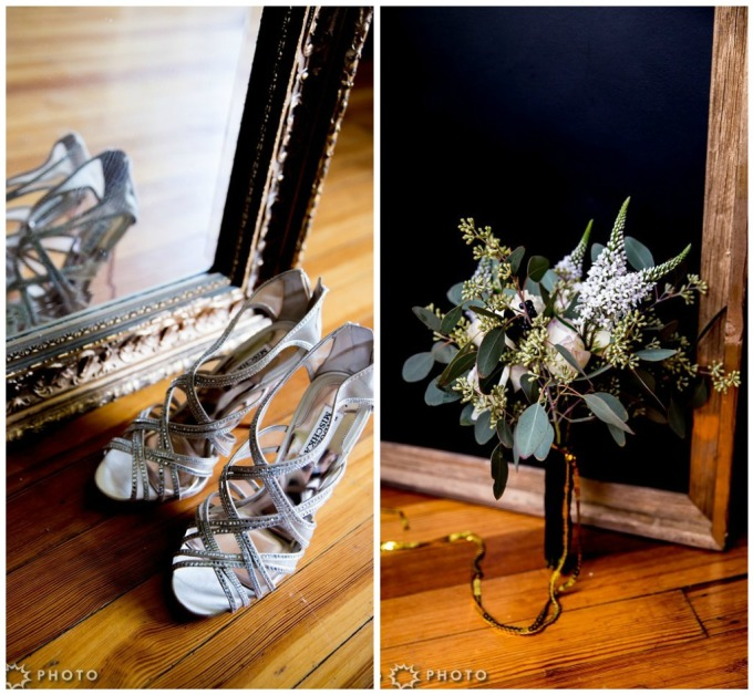 2. Art Deco Wedding. Kitchen Chicago. Victoria Sprung Photography. Sweetchic Events. DIY Bouquet.