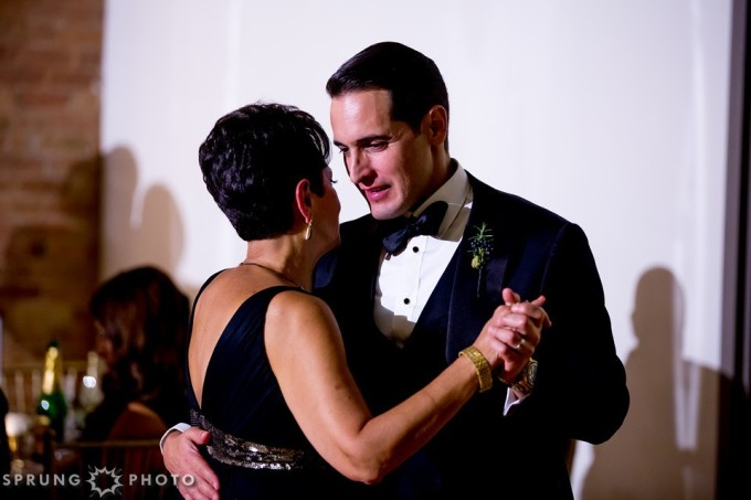 33. Art Deco Wedding. Kitchen Chicago. Victoria Sprung Photography. Sweetchic Events. Mother Son Dance.