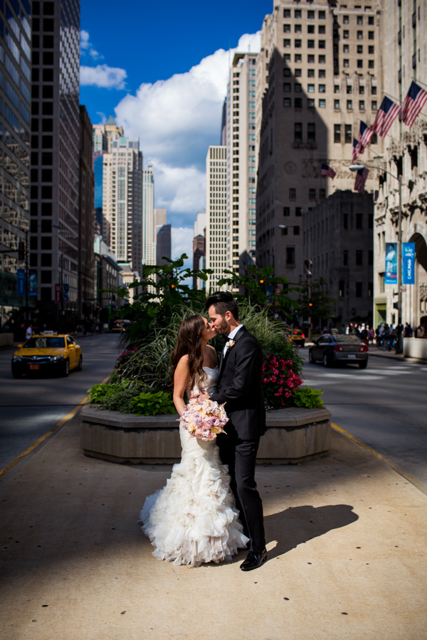 12. Union Station Wedding. Steve Koo Photography. Sweetchic Events. Michigan Avenue. Chicago Skyline.