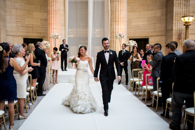 28. Union Station Wedding. Steve Koo Photography. Sweetchic Events. Ceremony. Blush Upligting.