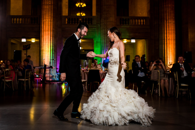 40. Union Station Wedding. Steve Koo Photography. Sweetchic Events. Flower Firm.  First Dance.
