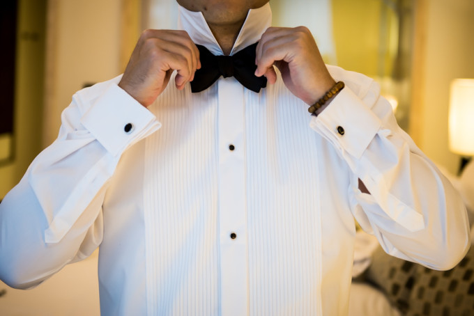 9. Langham Chicago Wedding. Steve Koo Photography. Sweetchic Events. Groom. Tuxedo. Bow Tie.