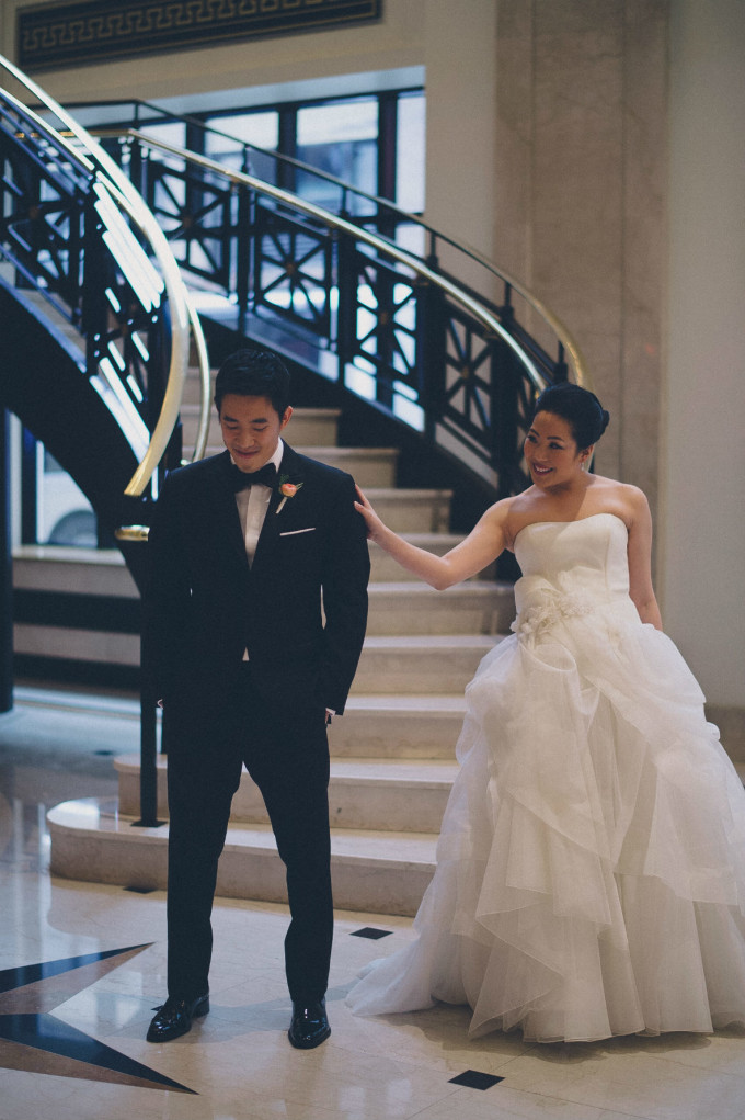 17. Rookery Wedding. This is Feeling Photography. Sweetchic Events. First Look. JW Marriott. Grand Staircase