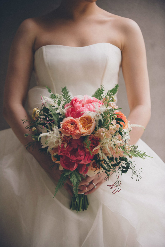 23. Rookery Wedding. This is Feeling Photography. Sweetchic Events. Vale of Enna. Organic Bouquet. Peonies. Ranunculus. Peach. Coral. Greenery