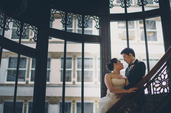 32. Rookery Wedding. This is Feeling Photography. Sweetchic Events. Staircase. Chicago Architecture