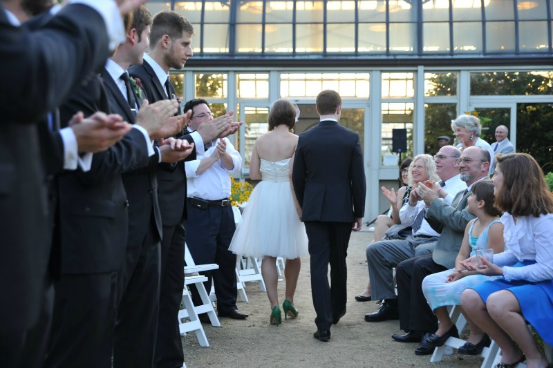 22 Garfield Park Conservatory Wedding Sweetchic Peter Coombs recessional