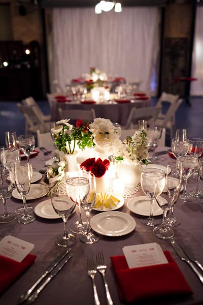 24 Architectural Artifacts Wedding Pen Carlson Photography Sweetchic Events Asrai Garden Red and White Collection Centerpieces