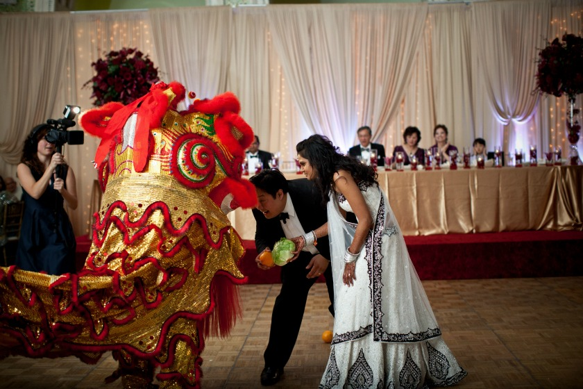 24 Chicago Cultural Center Chinese Indian Wedding chinese dragon dance