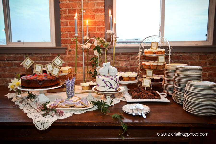 26 Kitchen Chicago Wedding Cristina G Photography Sweetchic Events Dessert Table