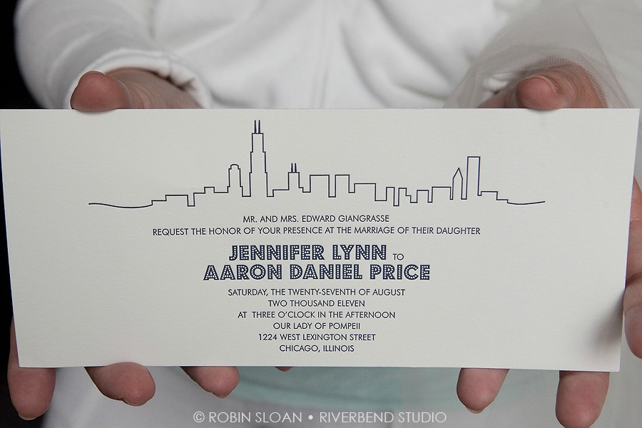 3 Jen.Aaron Trump Towers Magnificent Milestones Invitations Chicago Wedding Robin Sloan Riverbend Studio Sweetchic Events